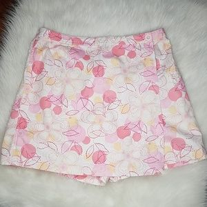 Talbots Pink + Yellow Floral Wrap Skort Size 18